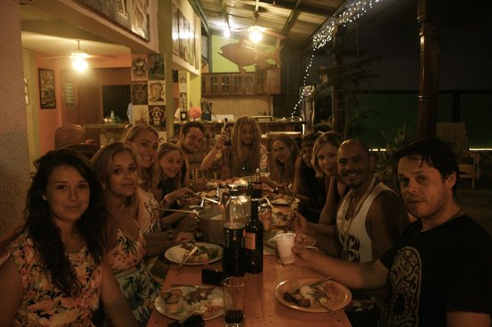 Hostel Pachamama: enjoying Easter dinner with the crew
