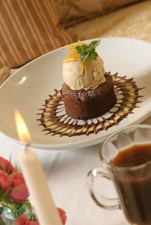 The Gables: Chocolate Souffle Cake with Homemade Ice Cream