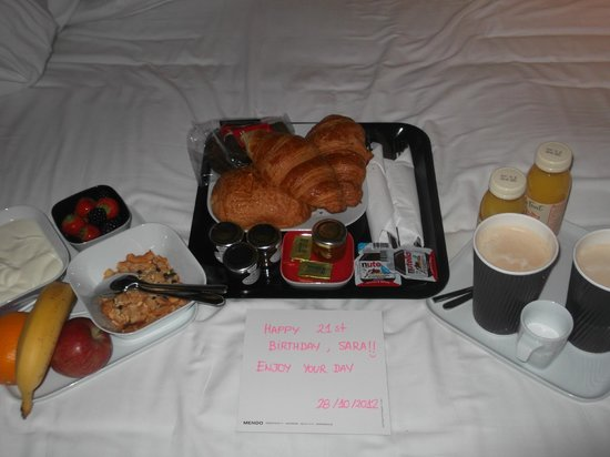 citizenM London Bankside: the breakfast we had delivered
