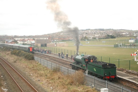 Steam Train Rides: 1 April 2013, at Whitehead Excursion Station.