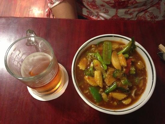 The Monk: seasonal vegetables in garlic sauce