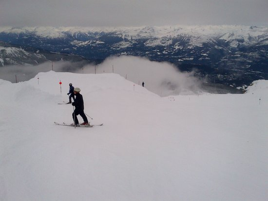 Whistler Peak Lodge: Ski view