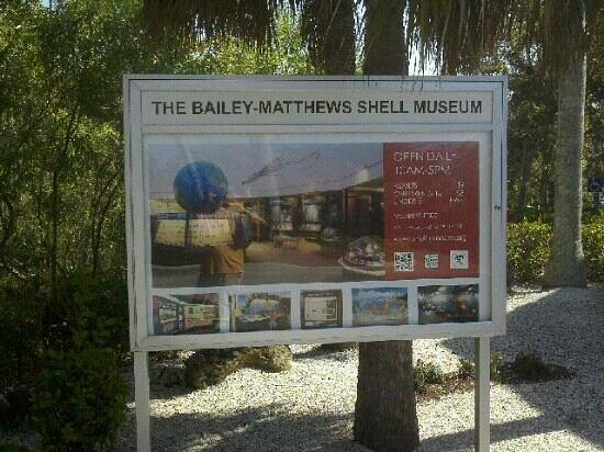 The Bailey-Matthews National Shell Museum: Information sign