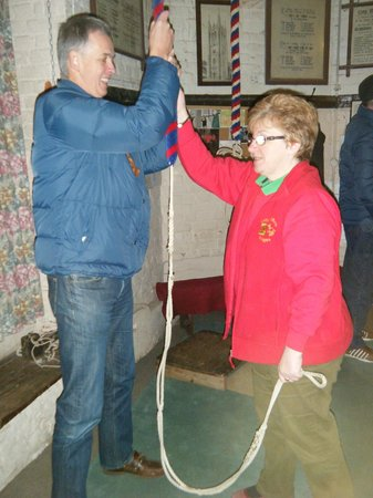 Long Melford Church: WOW, getting to ring one of those fabulous bells!!!