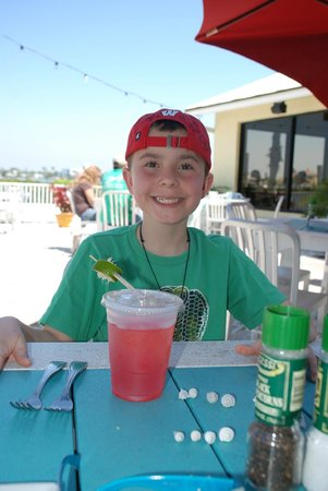Seabreeze Island Grill and Raw Bar: Our 10 year old son, Mason
