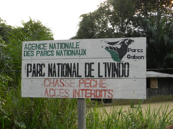 Makokou, Gabon: entrance of Ivindo National Park