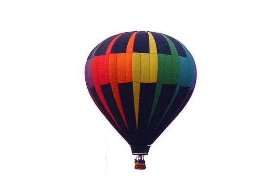 """Hacienda Linda : Our breakfast """"guests""""... up, up and away in their beautiful balloon!"""