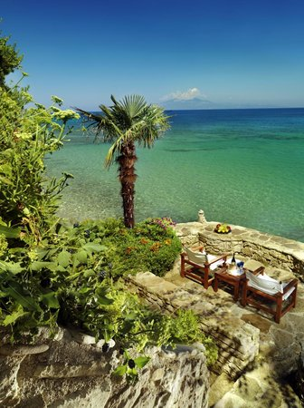 Porto Zante Villas & Spa: Private Terrace on the water's edge