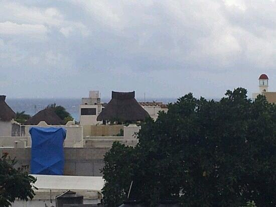 Hotel Hacienda Real del Caribe: view from hotel rooftop.