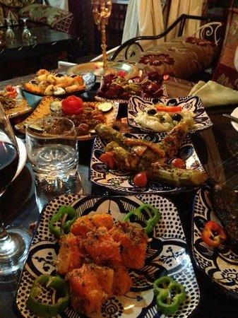 Riad Maryam Restaurant : wonderful salads