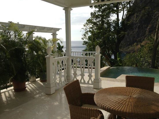 Sugar Beach, A Viceroy Resort: View from Grand Luxury Suite patio