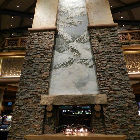 Ameristar Casino Black Hawk: Painting on fireplace