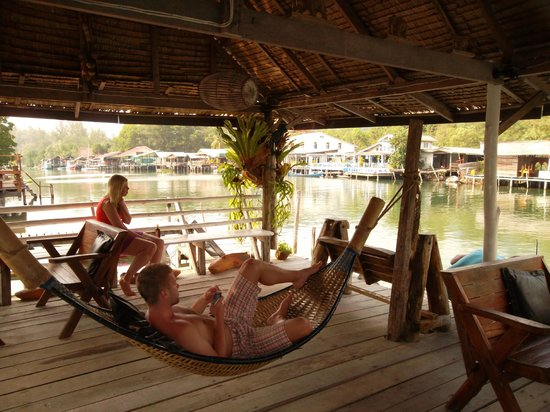 Baan Rim Nam: Relaxing at the deck