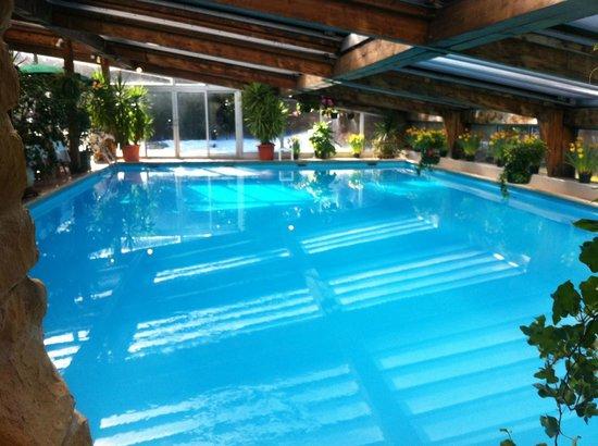 Hotel Les Airelles: La piscine couverte