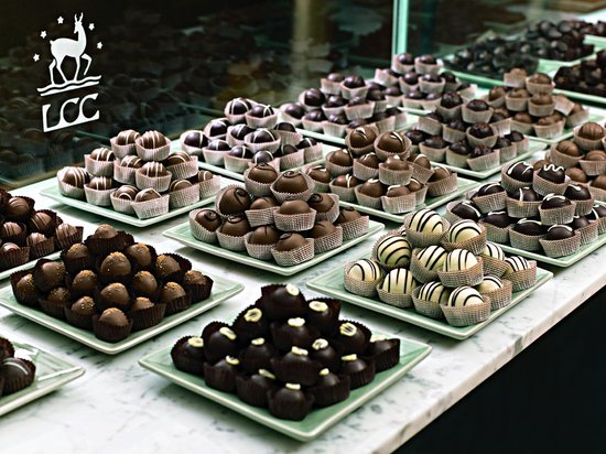 Looking through the window into the chocolate factory. - Picture ...