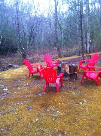 Peaceful Quest Retreats: campfire