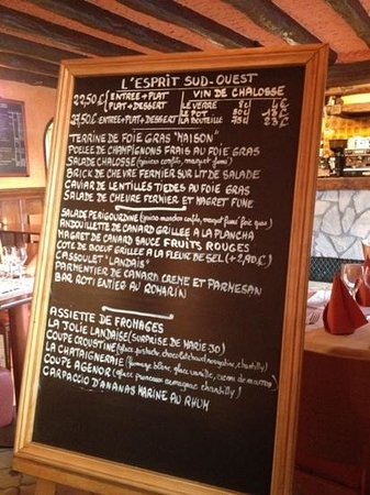 Guyancourt, Frankrike: The Menu for today...