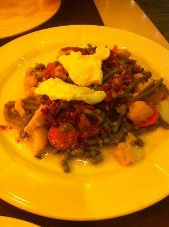 Urgain Restaurante : verduras con huevo
