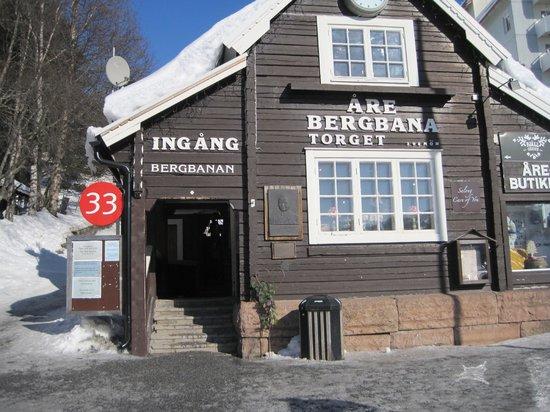 Hotel Aregarden: Ingång till Bergbanan