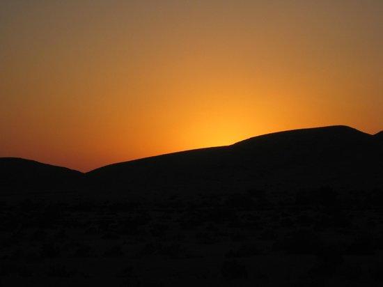 Boker Valley Vineyards Farm: desert sunset