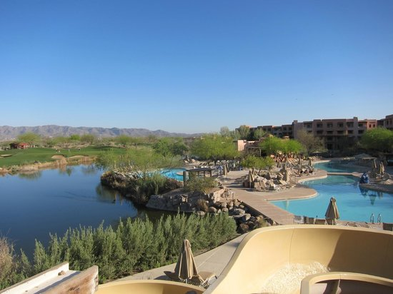 Sheraton Grand at Wild Horse Pass: View from the top of the water slide