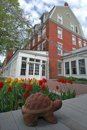 Brandon Inn: Spring tulips - Inn garden