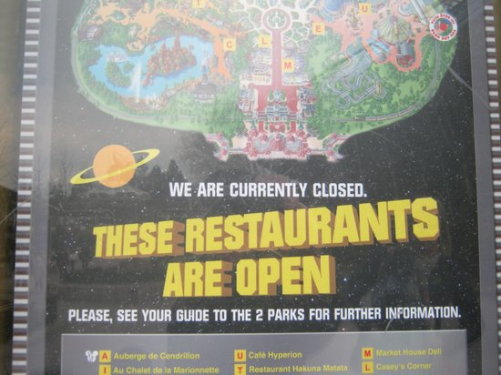 Buzz Lightyear's Pizza Planet: Nobody knows when it is open - but someone has managed to make a poster