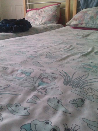 Toad Lodge Guest House: fitting bed sheets...