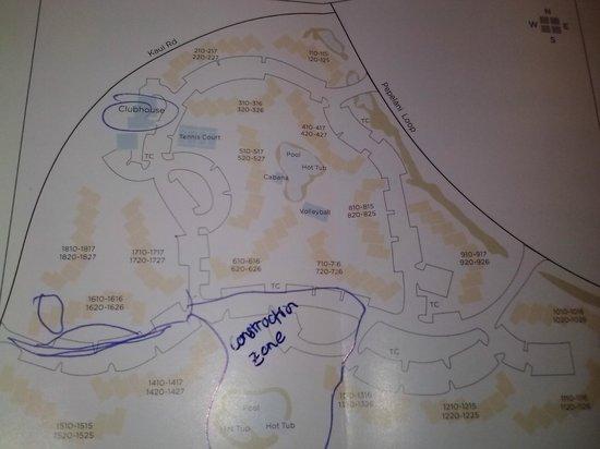 Wyndham Bali Hai Villas: map of resort