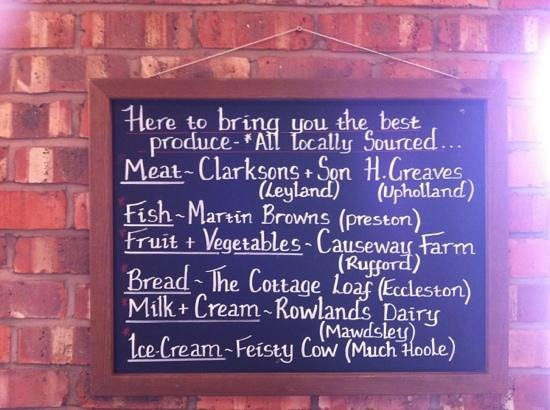 The Boat House Brasserie: local produce!