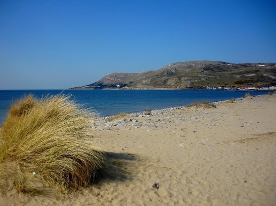 Great Orme seen from West Shore Beach