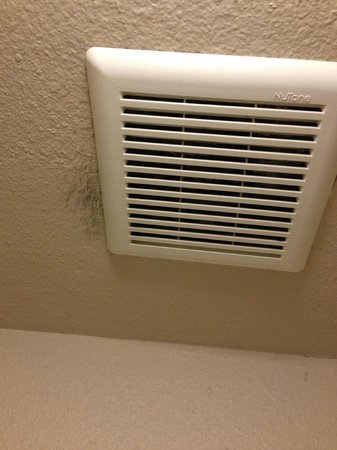 Days Inn Las Vegas At Wild Wild West Gambling Hall: Mold growing from the bathroom vent fan
