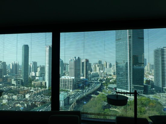 The PuLi Hotel and Spa: view to the skyline by day