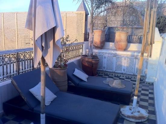 Riad Princesse Jamila: petite terrasse