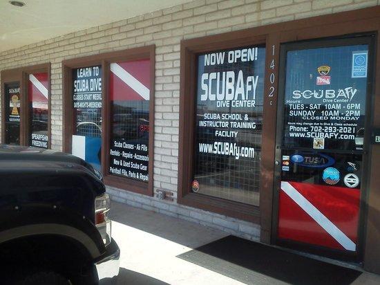 SCUBAfy, inside their store