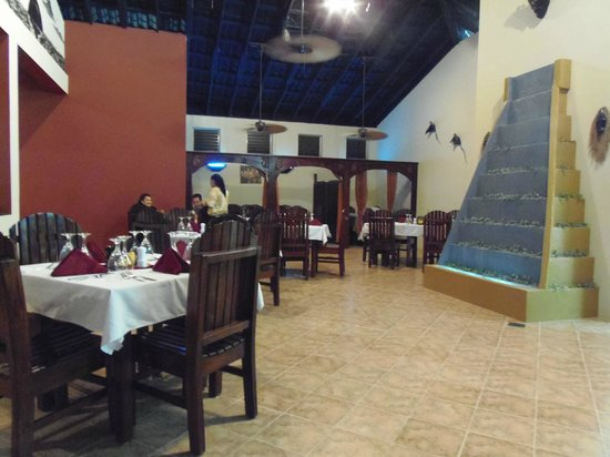 Interior Dining At Black Orchid Restaurant Ambergris Caye