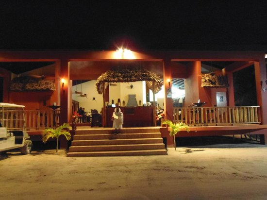 Front Of Black Orchid Restaurant At Night Ambergris Caye