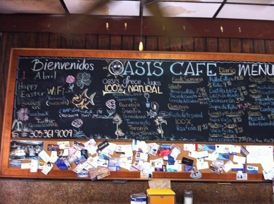 Oasis Sandwich Shop : menu escandaloso!