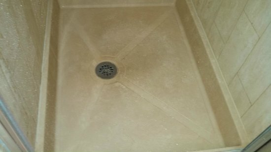 Doubletree by Hilton Grand Hotel Biscayne Bay: Filthy shower floor in the master bathroom