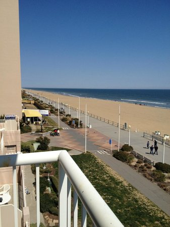 Hampton Inn Virginia Beach Oceanfront North View From Balcony