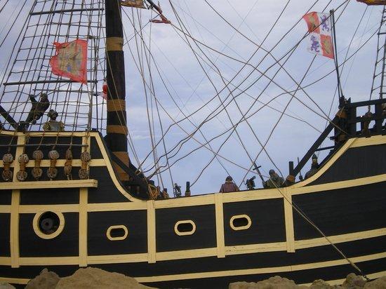 Puerto San Julian, Argentyna: Parte de la cubierta del Galeón Museo Temático