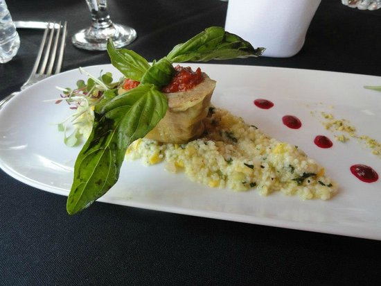 St. Augustine City Walks: Pork Stuffed Cabbage with Cucumber and Corn Couscous!