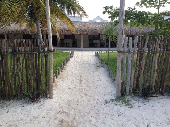 El Paraiso Tulum: coming in from parking lot