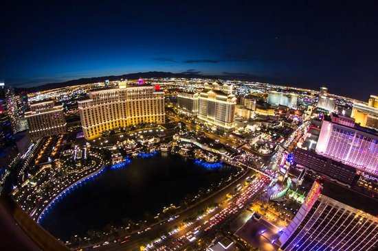 Paris Las Vegas: View from the tower top (N-W)