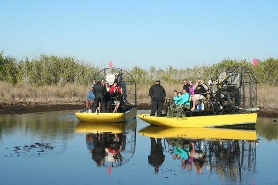 Speedy's Airboat Tours : 2 of our 3 boats