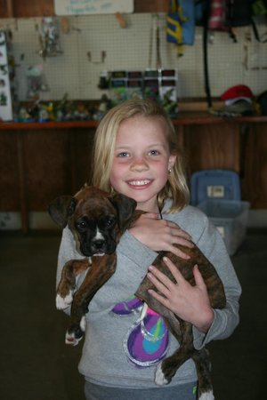 Speedy's Airboat Tours : McKinlee with Baby Girl.  We think the kids enjoyed the sweet pup more than the ride!