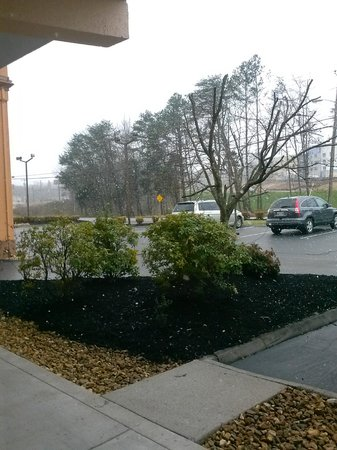 Super 8 Knoxville/West: View looking out our room when it started snowing! 104