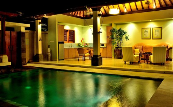 Disini Luxury Spa Villas: 2013 Picture view of dining and living room