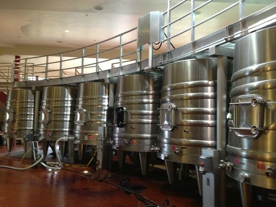 Napa Valley, Kalifornien: Stainless steel holding tanks