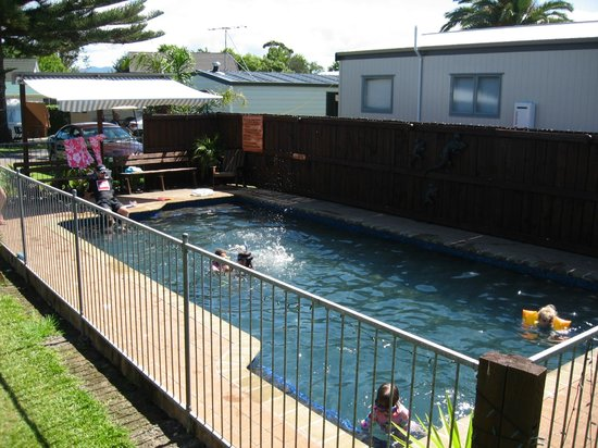 Mercury Bay Holiday Park: Swim Time October-March only